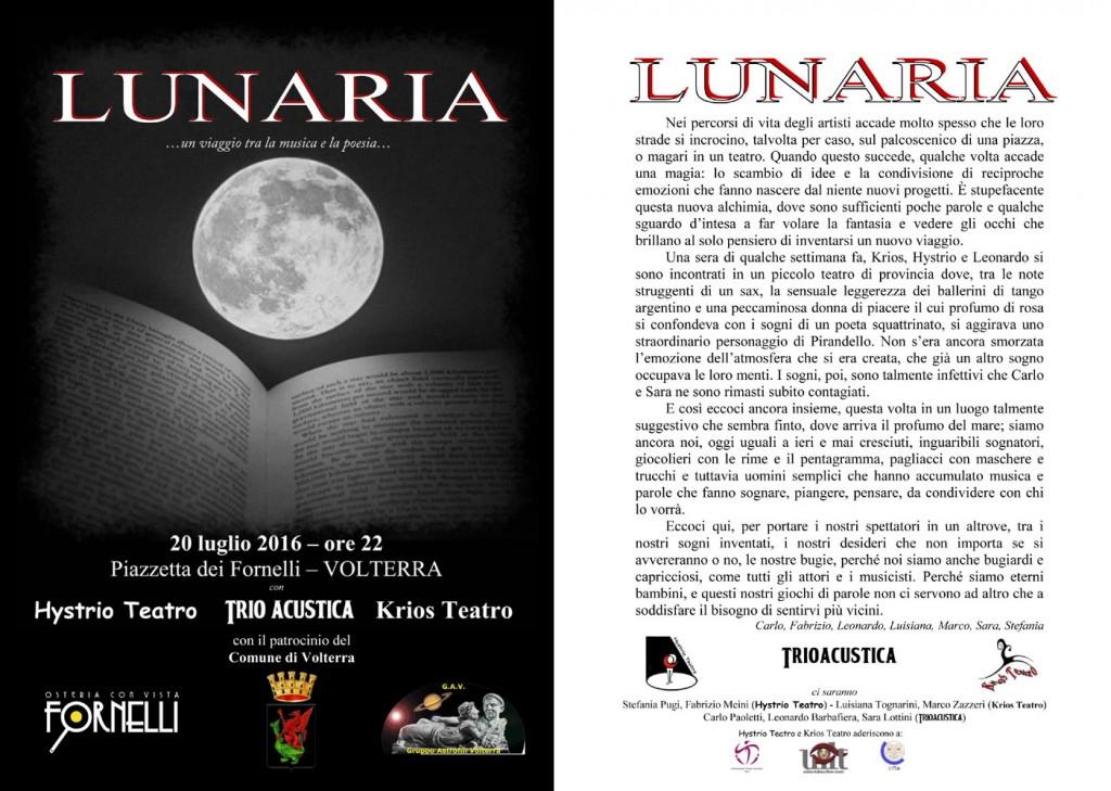 Lunaria – 20 luglio 2016