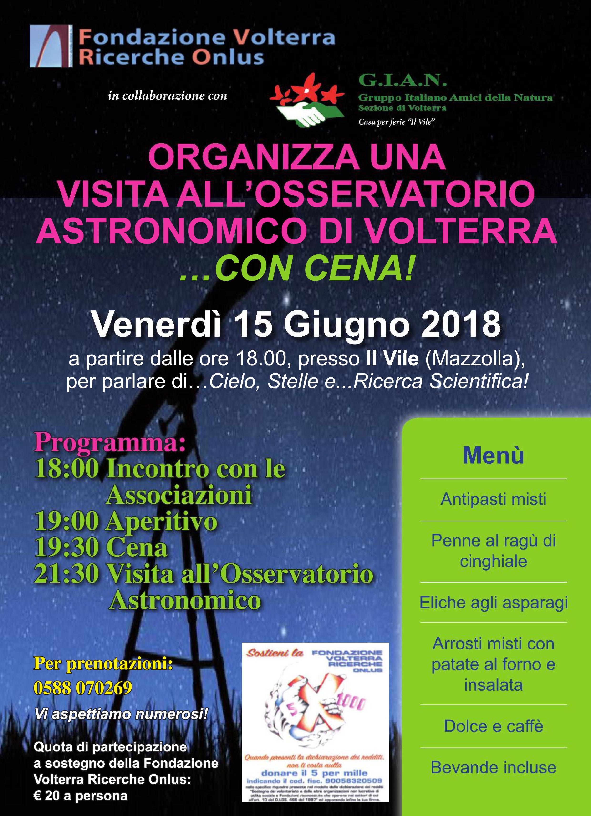 Il Vile Osservatorio Astronomico Volterra